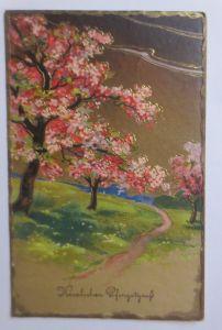 Pfingsten, Landschaft, Frühling,   1937, Golddruck ♥ (67640)