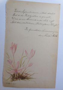 Altes Briefpapier Handgemalt Jahr 1890 ♥ (34K)
