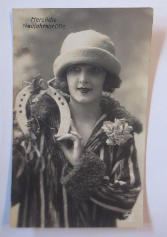 Neujahr, Frauen,Mode, Hufeisen,    1910 ♥ (67610)