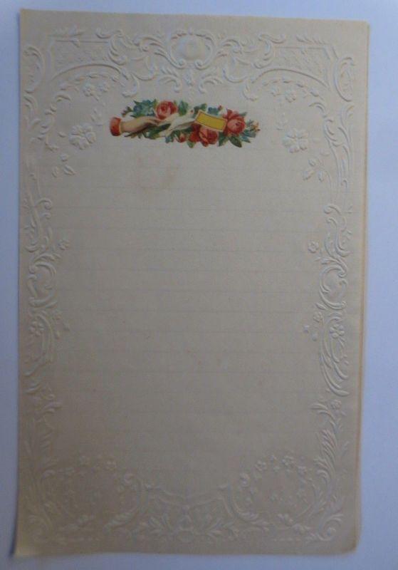 Briefpapier Mit Oblate aus dem Jahr 1888, Ungebraucht ♥ (11K)