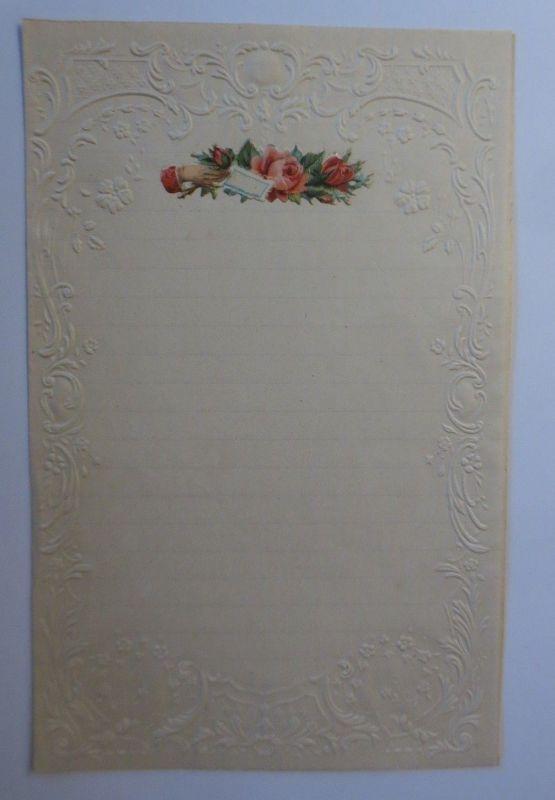 Briefpapier mit Oblate aus dem Jahr 1888, Ungebraucht ♥ (6 K)