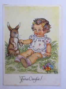 Ostern, Kinder, Ostereier, Hase,    1949, Tilly Baumgarten ♥ (65716)
