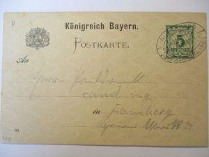 Bayern, Landes Ausstellung 1896 Ganzsache mit Sonderstempel (46035)