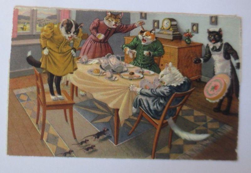 Verlag Max Künzli, Personifiziert, Katzen, Maus, Torte, 1948  ♥ (67482)