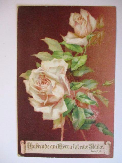 Blumen, Rosen, Die Freude am Herrn ist eure Stärke, 1909 (49512)