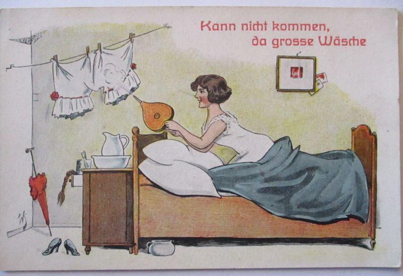Scherzkarte, Kann nicht kommen da große Wäsche (59615)