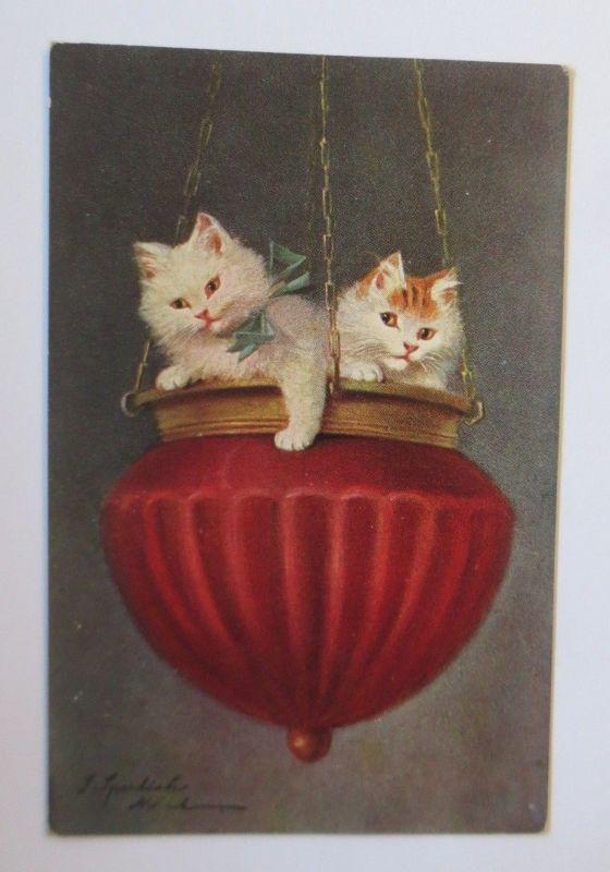 Katzen, Lampe,    1920, S. Sperlich  ♥ (67513)