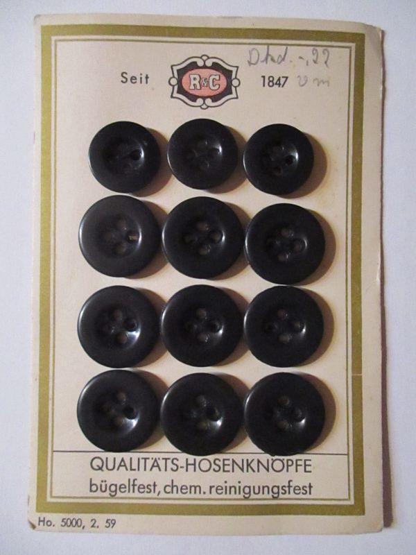 R&C Knöpfe, Hosenknöpfe Knopfkarte ca.50er Jahre (34215)