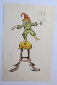 Zwerge, Kerzen, Hocker,  1923, Paul Heckscher  ♥ (68010)