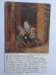 Zwerge, Die drei Männlein im Walde,  1922, Paul Lothar Müller ♥ (68004)