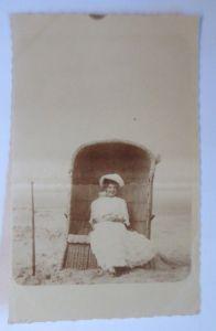 Bademoden, Frauen, Mode, Strandkorb, Strand, Meer,    1910, Foto ♥ (68472)