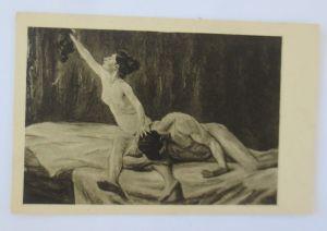 Künstlerkarte, Erotik, Simson und Delila  1900, Max Liebermann ♥ (68813)
