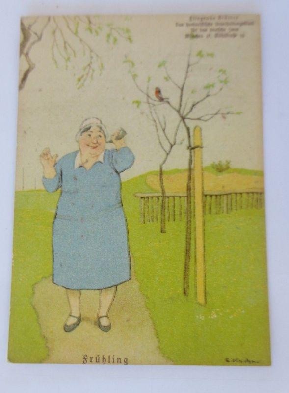 Fliegende Blätter Humor, Frühling,     1940, Eugen Kirchner ♥ (68809)