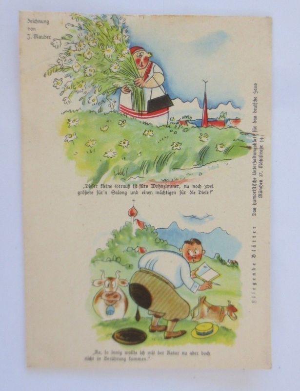 Fliegende Blätter Humorkarte, Comic,     1940, J. Mauder ♥ (68808)