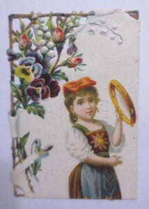 Kaufmannsbilder, Oblaten, La Chicoree, Cambrai, Kinder, Blumen 1848 ♥ (61841)