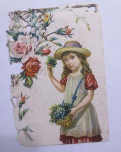Kaufmannsbilder, Oblaten, Maison de Confiance, Kinder, Blumen 1848 ♥ (61840)