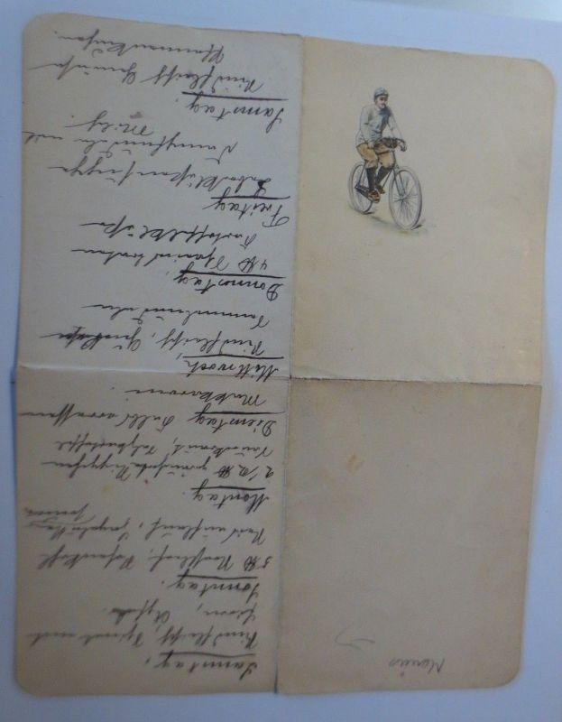 Menükarte, Fahrrad,  1910 ♥ (66153)