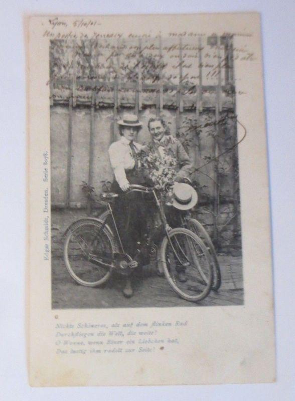 Fahrrad, Männer, Frauen,  1901 ♥ (66323)