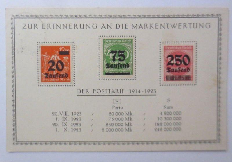 Briefmarkensprache, Zur Erinnerung an die Markentwertung 1914-1923 ♥ (68536)