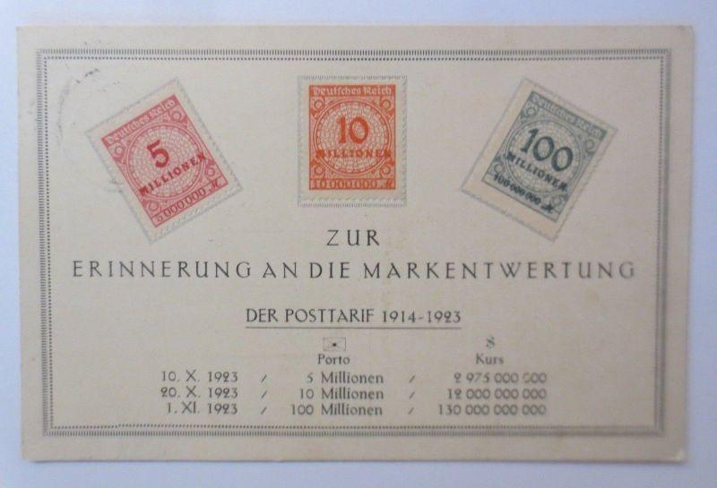 Briefmarkensprache, Zur Erinnerung an die Markentwertung 1914-1923 ♥ (68535)