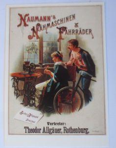 Fahrrad,Werbung Reklame, Naumann´s Nähmaschinen Fahrräder 1980 ♥ (68306)