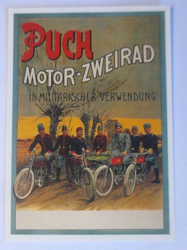 Fahrrad,Werbung Reklame, Puch Motor-Zweirad in Militärischer Ver. 1980 ♥ (68307)