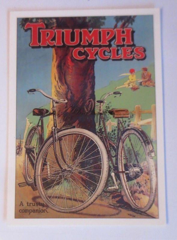 Fahrrad,Werbung Reklame, Triumph Cycles 1980 ♥ (66152)