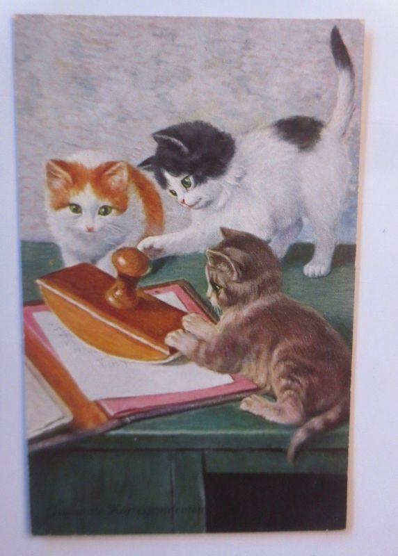 Katzen, Stempel, Gewandte Korrespodenten,   1931  ♥ (24572)