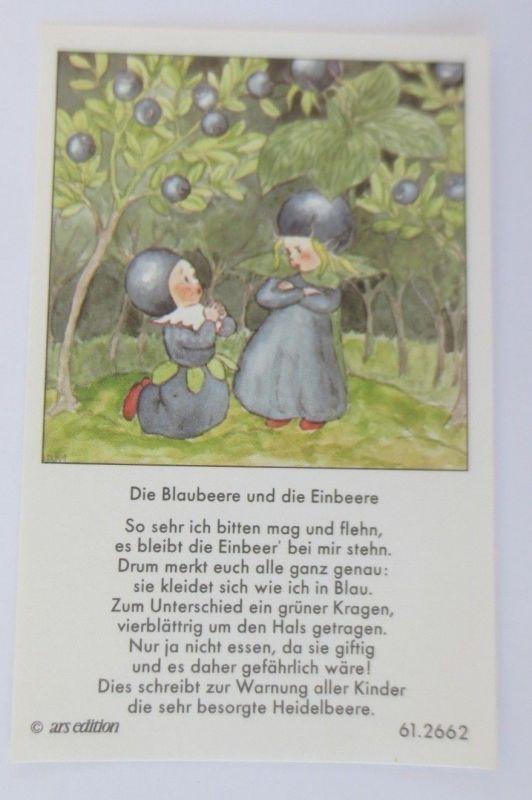Sammelbilder, Die Blaubeere und die Einbeer, 1930, ARS  ♥ (68728)