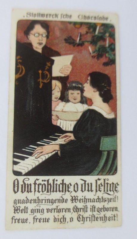 Stollwerck, Weihnachtsfeier, O Du Fröhliche, Gruppe 96, Nr.4, Album 3  ♥ (68727)