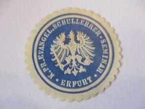 Siegelmarke D.Reich, Schullehrer Seminar Erfurt (49286)