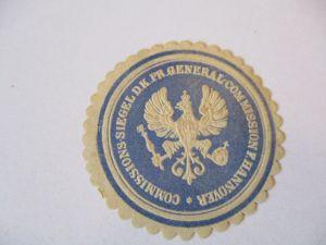 Siegelmarke Preußen, Generalcomission Hannover (36518)