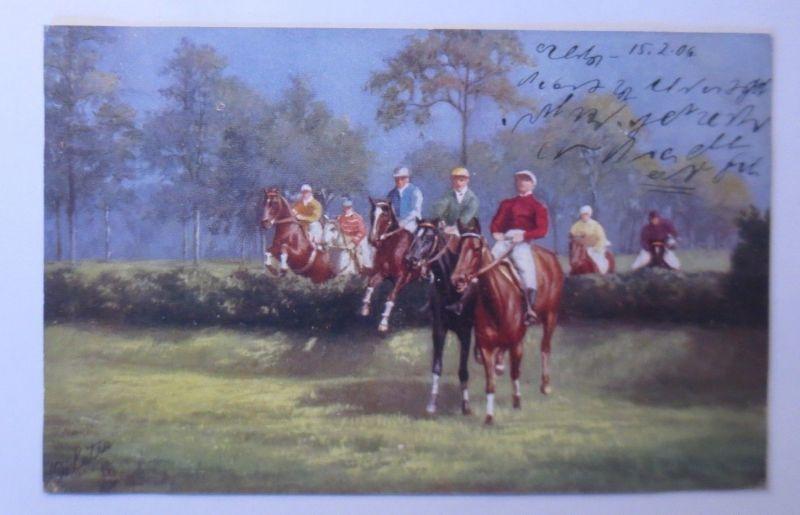 Pferde, Pferderennen, Jockey,  1906, Oilette ♥ (68570)