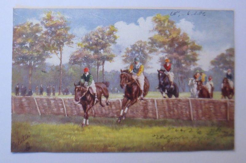 Pferde, Pferderennen, Jockey,  1906, Oilette ♥ (68569)