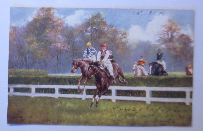 Pferde, Pferderennen, Jockey,  1906, Oilette ♥ (68567)