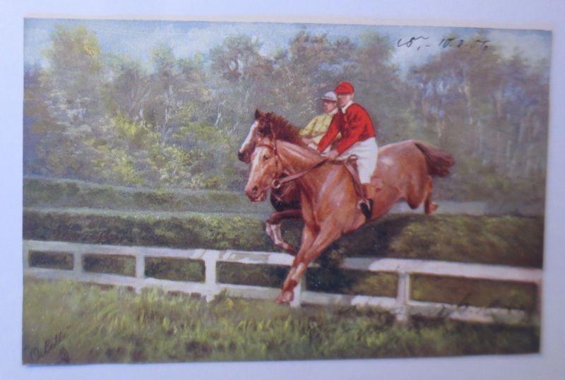 Pferde, Pferderennen, Jockey,  1906, Oilette ♥ (68566)