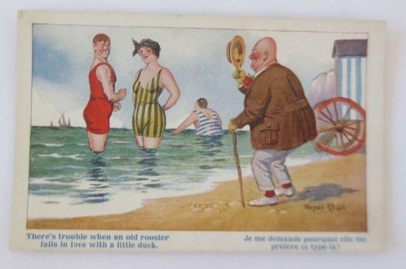 Männer, Frauen, Bademoden, 1910, Donald Gill ♥ (68843)
