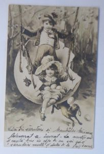 Ostern, Kinder, Mode, Osterei Schaukel, Hase, Eier,      1900 ♥ (38624)