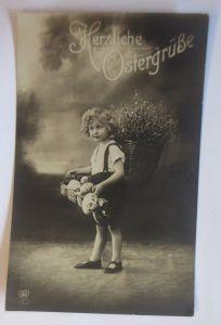 Ostern, Kinder, Mode, Korb, Weidenkätzchen, Ostereier 1928  ♥ (69028)