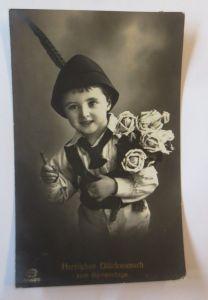 Namenstag, Kinder, Mode, Hut,  Blumen,  1915 ♥ (69006)
