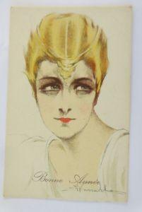 Neujahr, Künstlerkarte, Frauen, Mode, 1908, A. Vassatta ♥ (69235)