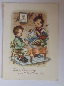 Namenstag, Kinder, Kaffee, Kuchen,    1956, R. Hanitzsch ♥ (57510)