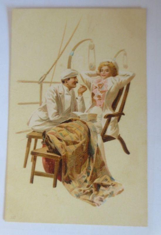 Künstlerkarte, Frauen, Männer, Mode,   1900,  Hegedüs Geiger  ♥ (57550)
