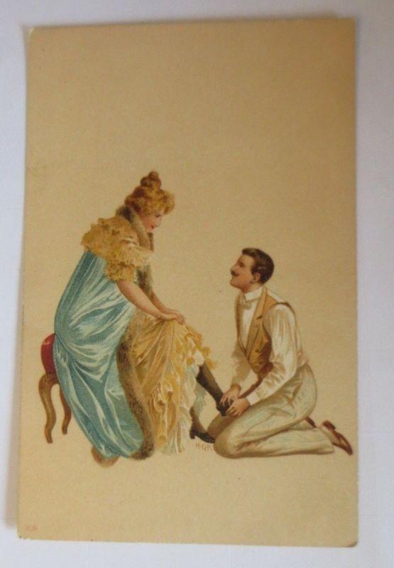 Künstlerkarte, Frauen, Männer, Mode,   1900,  Hegedüs Geiger  ♥ (57549)