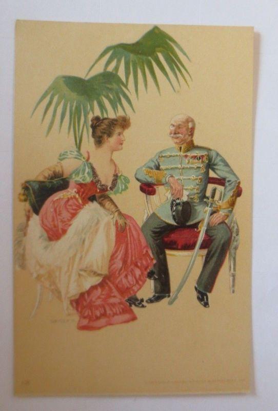 Künstlerkarte, Frauen, Soldat, Offizier,  1900,  Hegedüs Geiger  ♥ (57548)