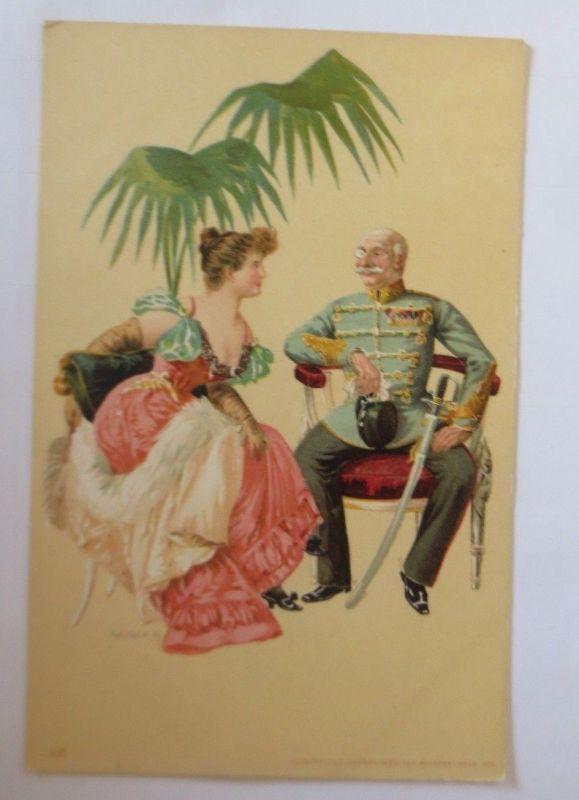 Künstlerkarte, Frauen, Soldat, Offizier,  1900,  Hegedüs Geiger  ♥ (57547)