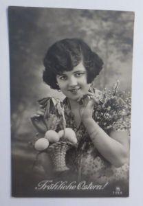 Ostern, Frauen, Mode, Korb, Eier, Weidenkätzchen,   1930 ♥ (69102)