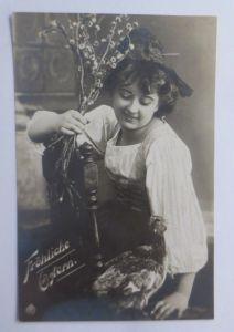 Ostern, Frauen, Mode, Weidenkätzchen, Huhn,   1912 ♥ (69096)