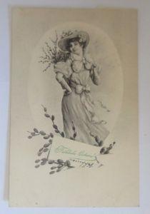 Ostern, Frauen, Mode, Hut, Weidenkätzchen,     1906  ♥ (64061)