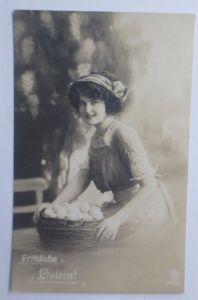 Ostern, Frauen, Mode, Korb, Eier,    1919 ♥ (69089)